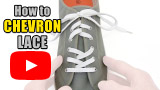 Watch video: How to Chevron Lace your shoes