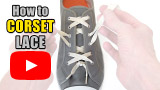 Watch video: How to Corset Lace your shoes
