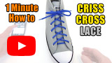 Watch video: Criss Cross Lacing one-minute how-to