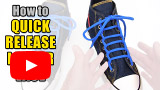 Watch video: How to Quick Release Ladder Lace your shoes