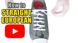 Watch video: How to Straight European Lace your shoes