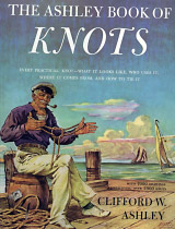 Sailor tying a Tom Fool Knot on the cover of The Ashley Book of Knots