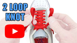 Watch video: Two Loop Shoelace Knot tutorial