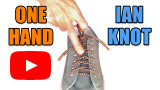 Watch video: How to tie shoes one-handed using my Ian Knot