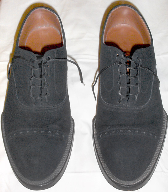 Black suede shoes with black Ladder Lacing (from Nicholas S)