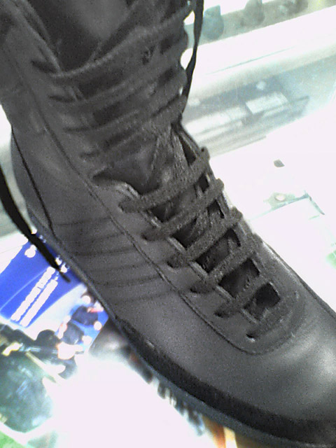 Black Adidas GSG9s with black Sawtooth Lacing (from Jin W)