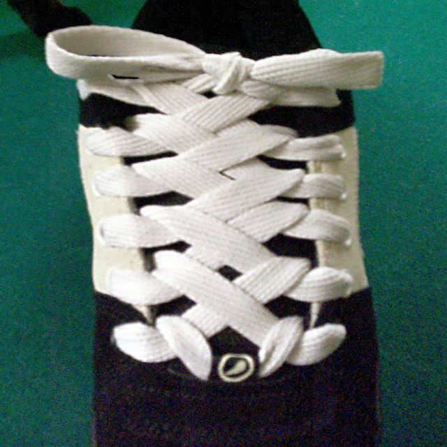 Black Es (és) Accels with white trim and white Zipper Lacing (from Kyle S)
