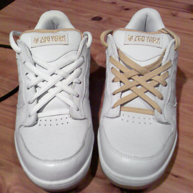 White Zoo York Empires with tan trim and white & tan Lattice Lacing (from Nate T)